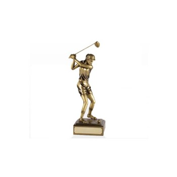 World golfball championship custom metal trophy cup