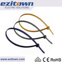 CT ul yueqing wholesale cable ties customized nylon 12 66 100 piece lock cord ties standard bag binding plastic zip ties