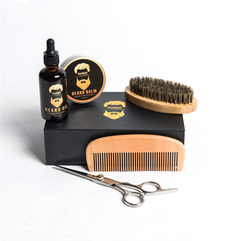hot selling beard grooming kit nature beard <strong>comb</strong> and brush care kit for men brush and <strong>comb</strong> set top quality