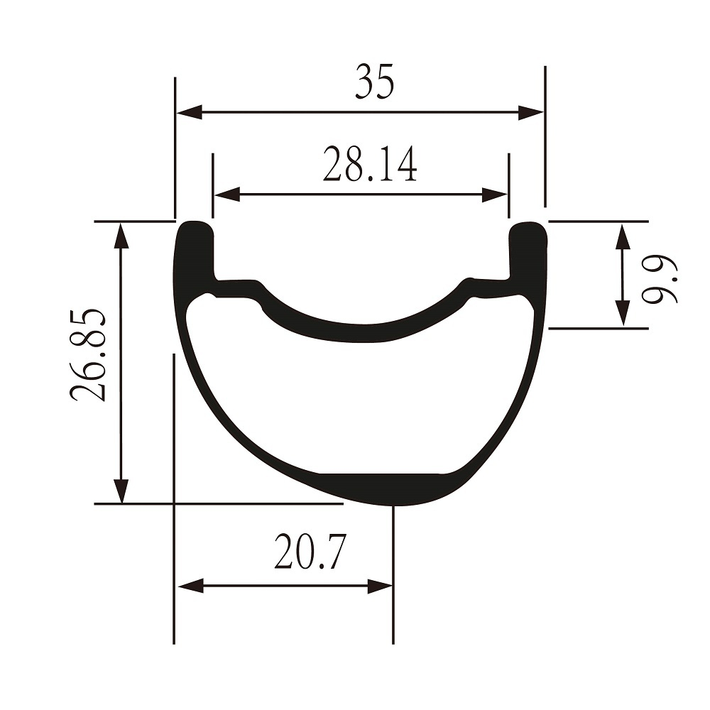 2018 Yuan'an best selling bicycle parts mtb rim 29er 35mm width