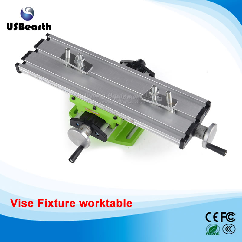 Newest 2017 LY6300 multifunction Milling Machine Bench drill Vise Fixture worktable X Y-axis adjustment Coordinate table