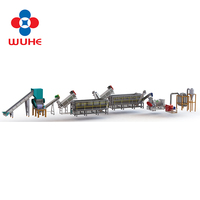 High efficient pp pe film washing line for waste plastic recycling