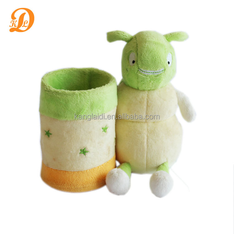 promotional plush toy cartoon stuffed animal pen holder