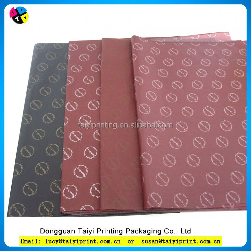 Wholesale Wall Paper Sliver Red Black Tissue Wrapping Paper