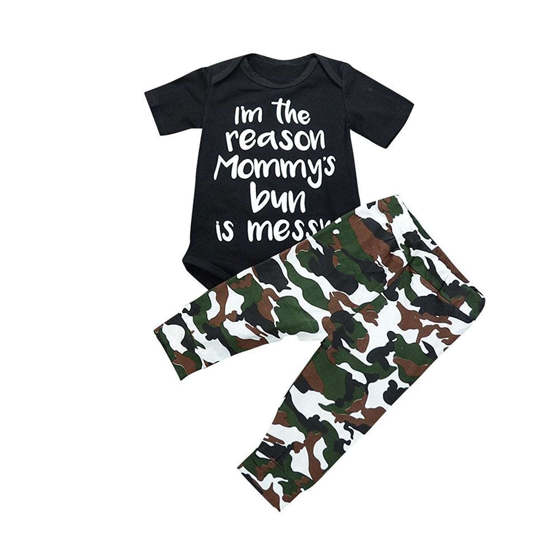 a4b142867103 Get Quotations · Littleice Newborn Baby Kids 3pcs Clothes