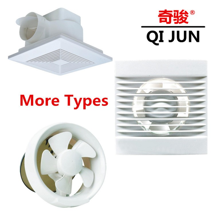 6 Inch Kdk Exhaust Fan For Wall Full Plastic Portable Ventilation