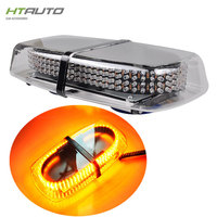 HTAUTO Red Blue 240 LED Roof Top Vehicle Magnetic Emergency Warning Car Light Snow Plow Flashing Strobe Mini Amber Lightbar