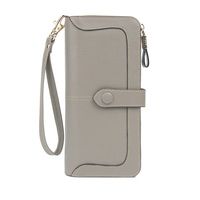 Womens RFID -Blocking -Real Leather- Wallet- Ladies- Zipper Wristlet Clutch woman wallet 2018 designer