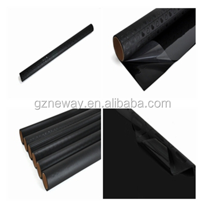 guangzhou supplied window film in rolls can be used for office and home block the sun/differernt black surface window film with