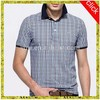 OEM service High quality Wholesale formal short sleeve double mercerized cotton plaid polo t shirt designs for men