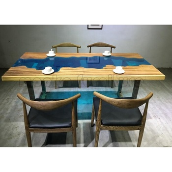 Dining Room Furniture Walnut Gl Top River Table Live Edge Wood Slab Tables Wooden With