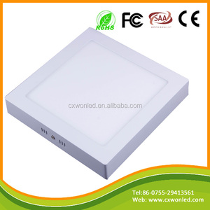 Best selling surface mounted led light aluminum housing 12w square panel ceiling led lamp