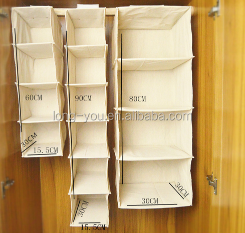 Newest product cotton fabric home storge 4 shelves hanging organizer have stock