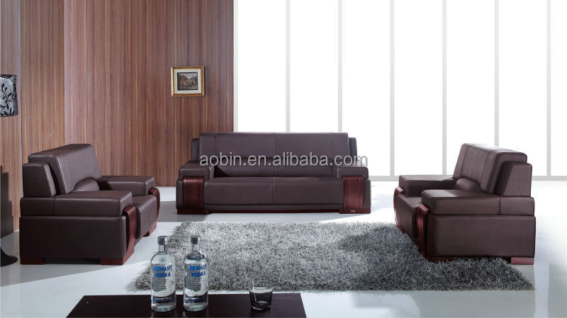 Classic Beautiful Office Leather Sofa,Popular Office Section Sofa