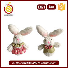 Home decoration hanging doll long ear plush stuffed bunny easter novelty gift for kids