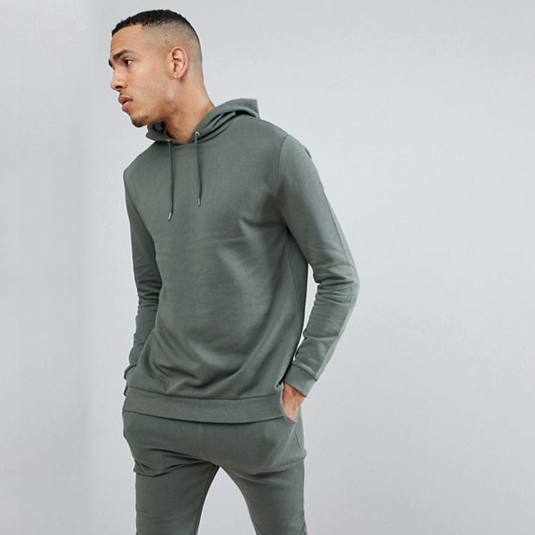 Sweatsuit Men Tracksuit Tall Tracksuit Set Super Skinny Jogger Hoodie Green
