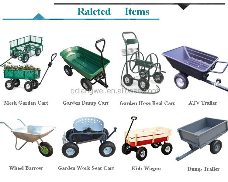 Heavy Duty Plastic Garden Cart Dump Cart Garden Trailer Buy