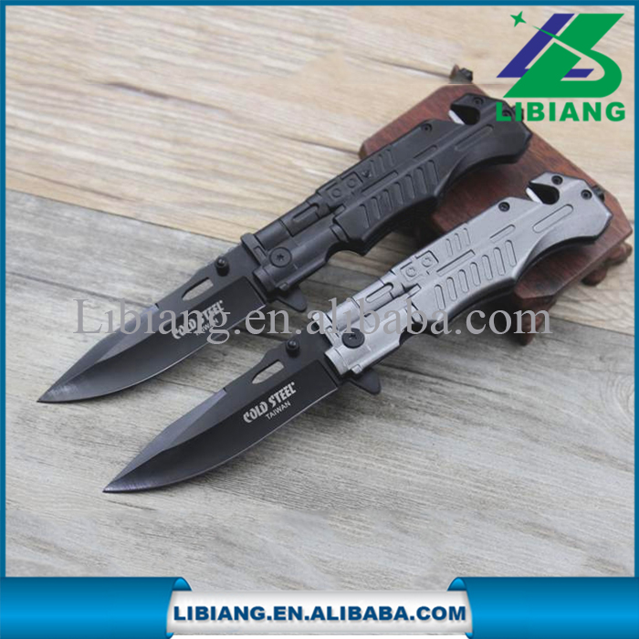 Stainless steel outdoor assisted rescue folding knife