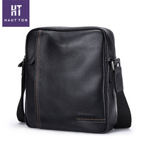 High Quality Popular Vintage Mini Vertical Shoulder Briefcase Bags New Model Small Genuine Cow Leather Messenger Bag For Men