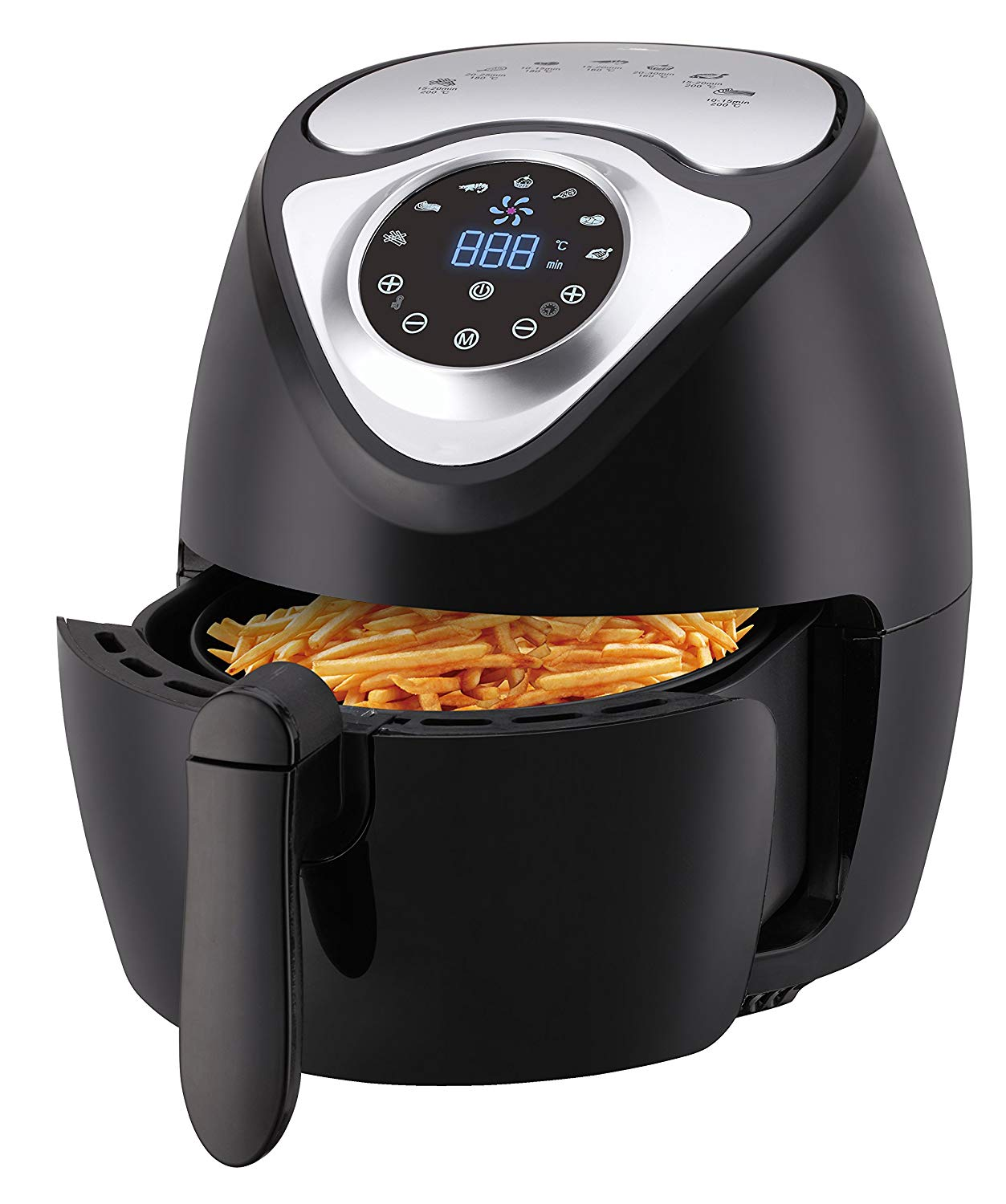 Manufactuer sale Multi-function Electric Air Fryer, Fry Health with Less Fat, 1300W with Digital Screen Control, Black