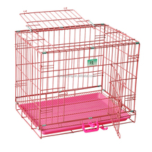 wholesale customized stainless steel pink dog crate
