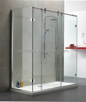 8mm 10mm 12mm Clear Tempered Glass Shower Bathroom Wall Panel