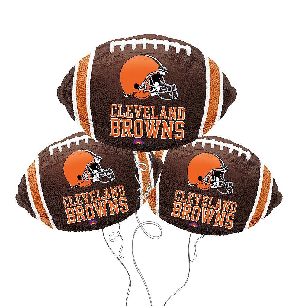 Cleveland Browns NFL Football Mylar Balloon - 3 Pack
