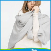 Fashional women winter solid color knitted cashmere shawl