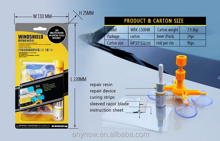 Auto 앞 유리 repair kit fix auto (gorilla glass) 앞 유리 균열 칩 스크래치 repair kit