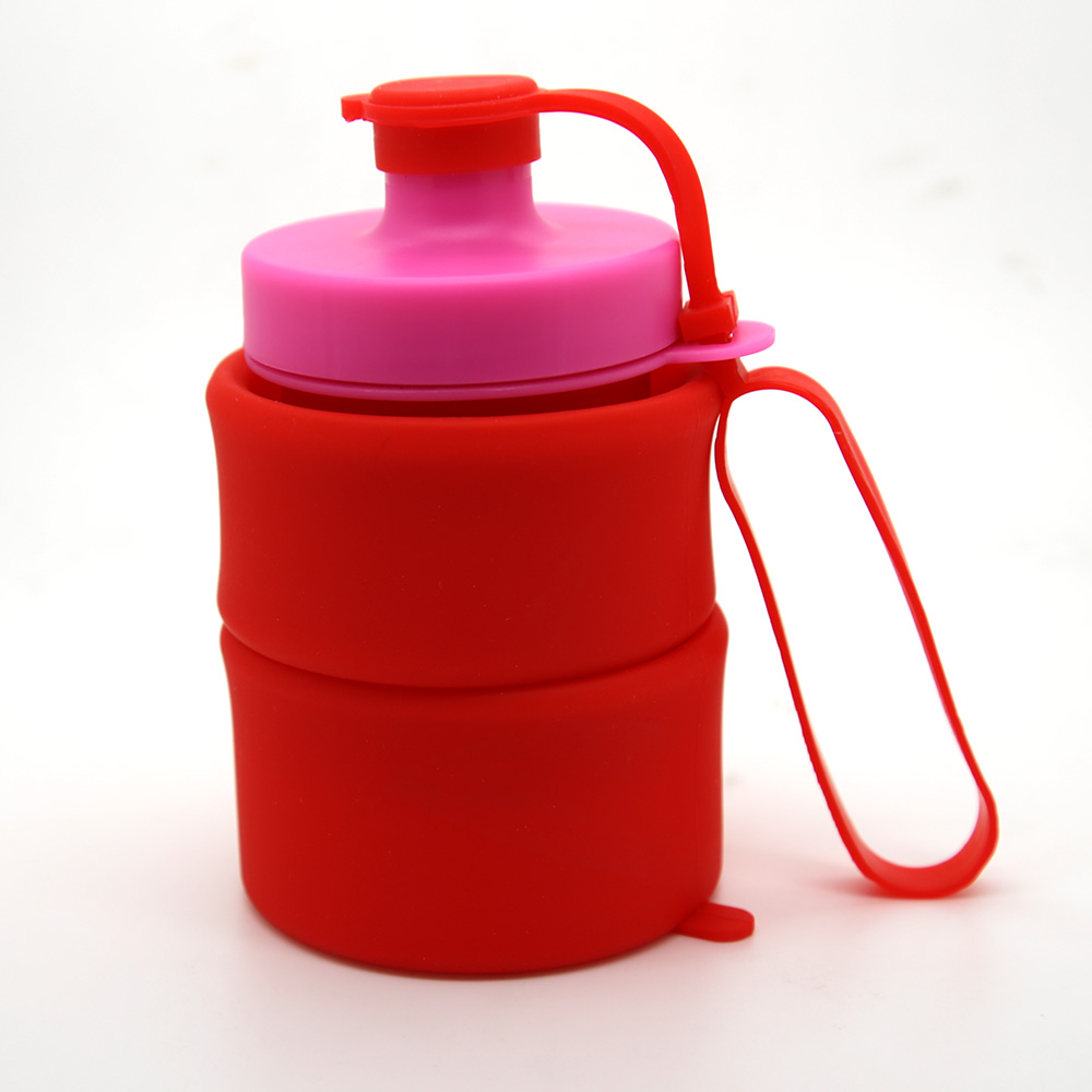 Hot selling folding silicone water bottles sport travel outdoor water kettle, sports water bottle for traveling