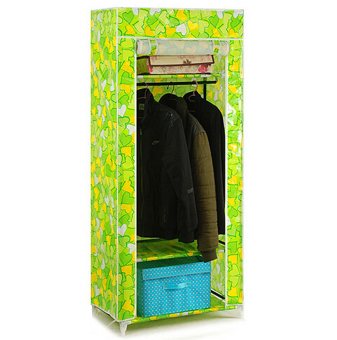 YoHere furniture bedroom steelframe folding fabric wardrobe closet clothes storage cabinet portable wardrobe hanging