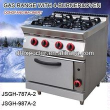 gas cooker oven gas range with 4-burner and oven