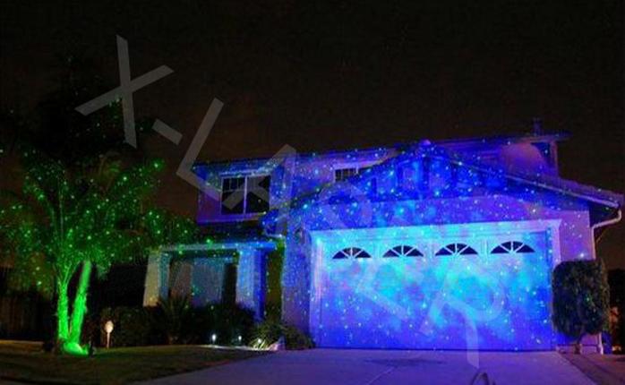 Single Blue Outdoor Home Motion Stars Bliss Laser Light Shower