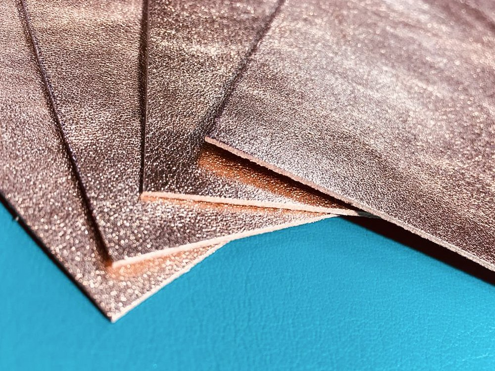 Rosegold METALLIC Leather 10x10 in Scrap LEATHER pieces Rose Gold Leather Fabric Pink Metallic Sheets, 10x10 inches, rose metallic leather rose gold leather scraps for crafts, rose gold scrap leather