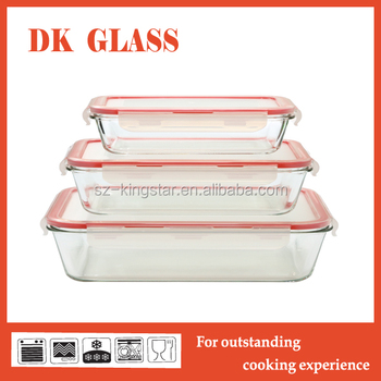Lunch Box With Lock Glass Vacuum Food Storage Container With