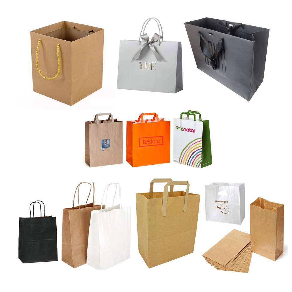 M132 Custom paper gift shopping bag with handle