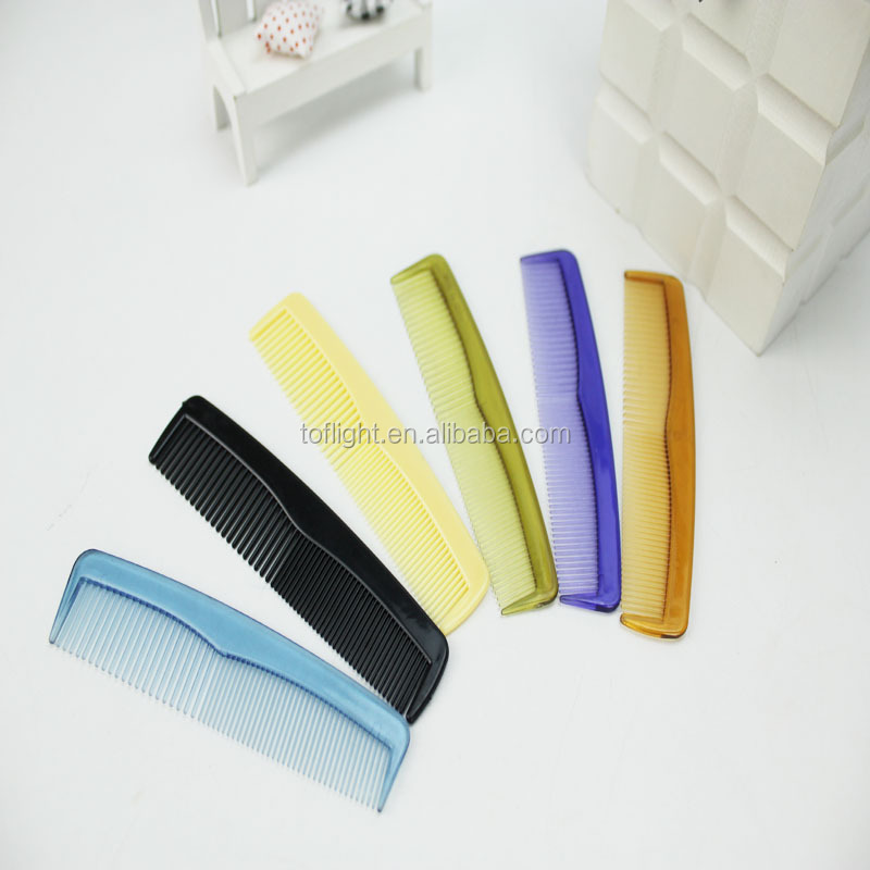 colourful hotel or travel plastic cheap hair comb