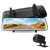 Best quality 2.0M 170 degree 1080p 9.66inch 2.0M touch screen dual car dvr camera g sensor rear view mirror camera car dvr