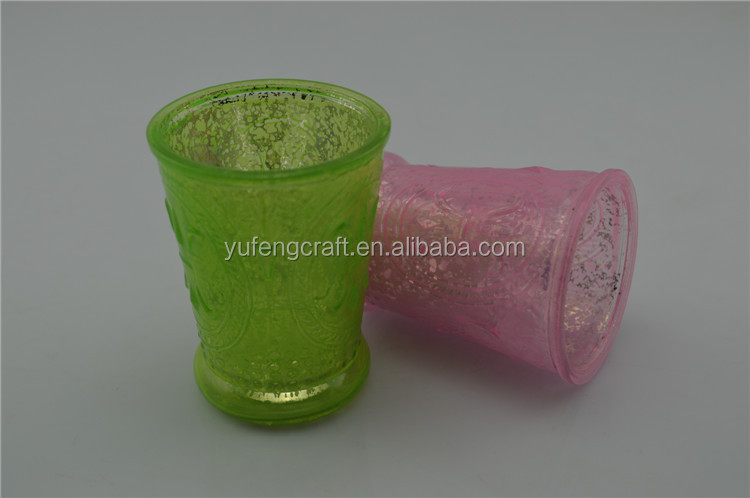 pastel pink and green glass candle jar wedding souvenirs aroma lamp