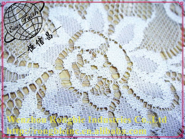 Super quality hot sell yellow French stretch nylon lace fabric