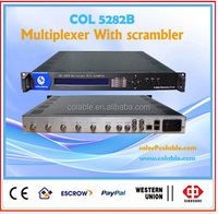 8 channel multiplexer with scrambler,cable tv pay tv headend equipment for tv and radio station COL5282B