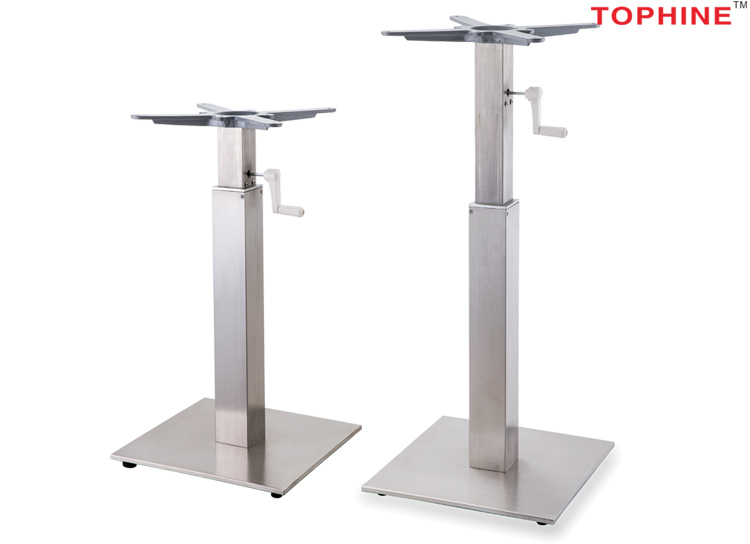commercial contract tophine furniture adjustable height stainless rh tophine en alibaba com adjustable height table base dark vein height adjustable table base uk