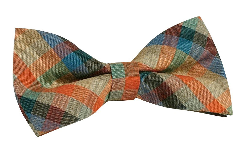 4.6x 2.3 ST34 Brand New Multi-color Plaid Cotton Tuxedo Bow tie for MENS -Various Colors