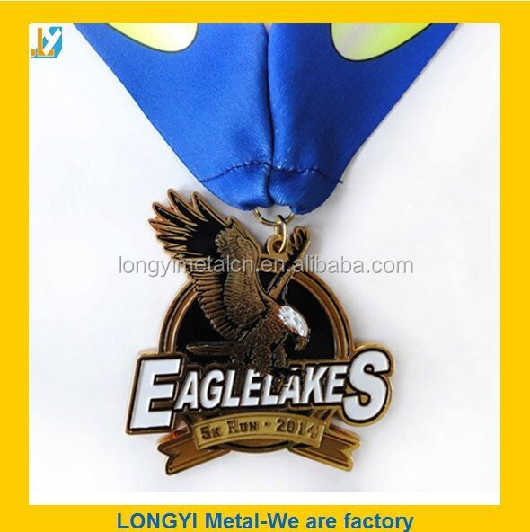 Promotion Custom Engraved Coloring Triathlon Medal With Lanyard ...