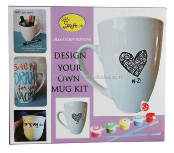Ceramic Mug Kit Buy Diy Mug Kitpaint Your Own Mug Kitceramic