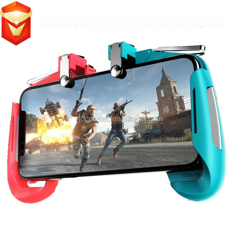 Colorful AK16 Gamepad for PUBG Gaming L1R1 Trigger Fire Button Shooter <strong>Controller</strong> For iphone Android Phone Gaming Joystick