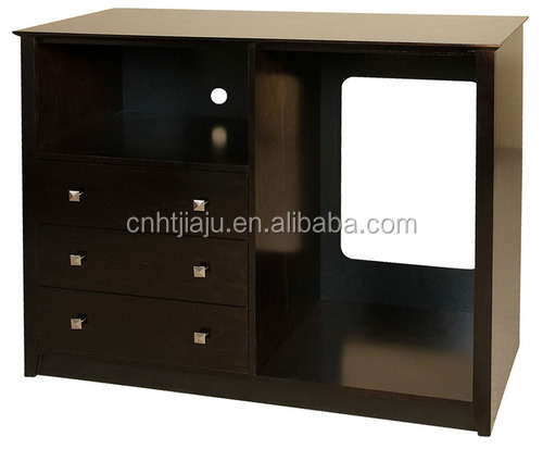 Custom Made Hotel Bedroom Micro Fridge Cabinet Furniture For