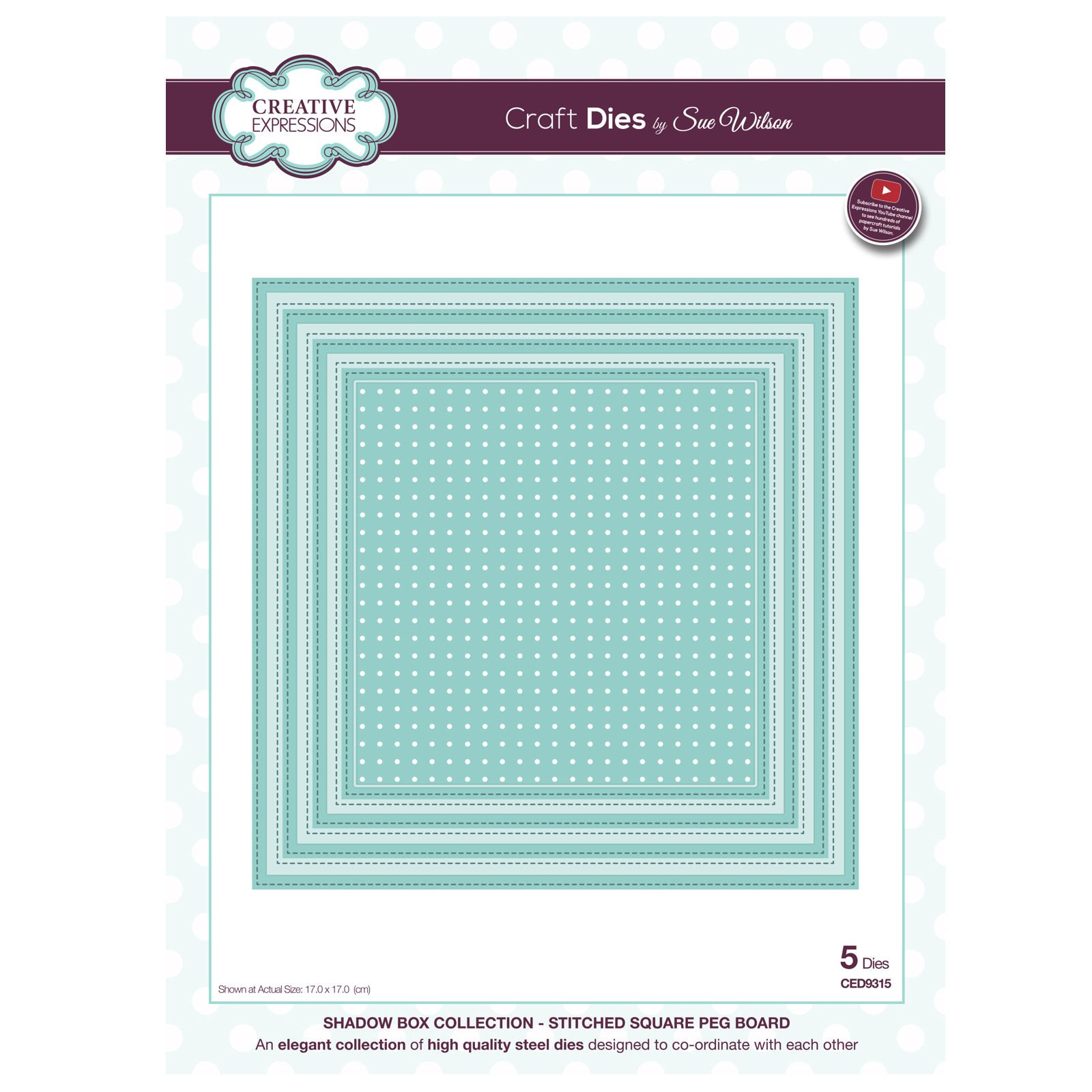CREATIVE EXPRESSIONS Sue Wilson FESTIVE COLLECTION Holly Mini Striplet CED3039