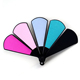 Fan-shaped Fashion Colorful Nail Art Buffer File Plastic Disposable Nail File for Nails