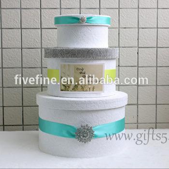 custom white bridal shower card box wedding money box